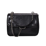 Micasahi Vintage Pu Chain Crossbody Bag