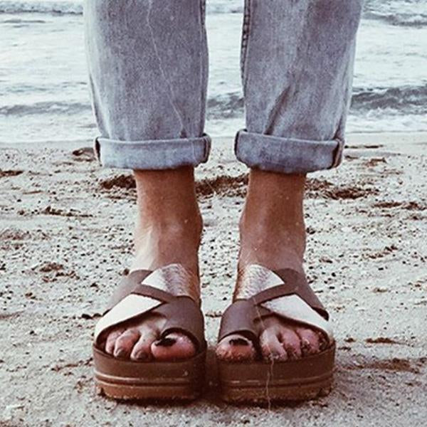 Micasahi Vintage Summer Beach Casual Slippers