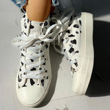 Micasahi Abstract Print Lace-Up Sneakers