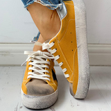 Micasahi Colorblock Star Embellished Lace-up Sneakers