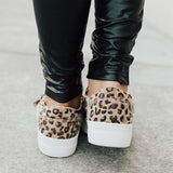 Micasahi Daily Casual Leopard Slip-on Sneakers