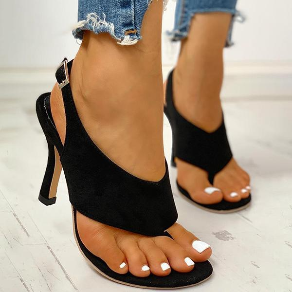 Micasahi Toe Post Slingback Thin Heeled Sandals