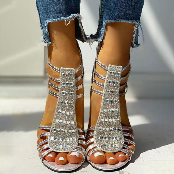 Micasahi Studded Multi-Strap Chunky Sandals