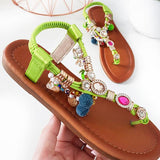 Micasahi Steffi Chain Jewelled T-Bar Sandals