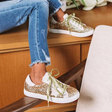 Micasahi Shine Brighter Cheetah Print Sneakers