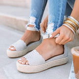 Micasahi Casual Scalloped Foot Strap Platform Sandals