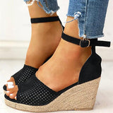 Micasahi Women Summer Casual Peep Toe Wedge Sandals
