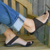 Micasahi Slip On Open Toe Flat Heel Slippers