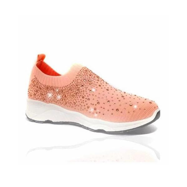Micasahi Women Shiny Sock Sneakers