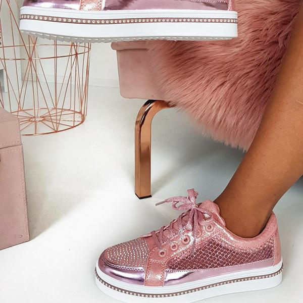 Micasahi Diamante Embellished Mesh Trainers