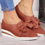 Micasahi Bowknot Wedge Heel Summer Sneakers