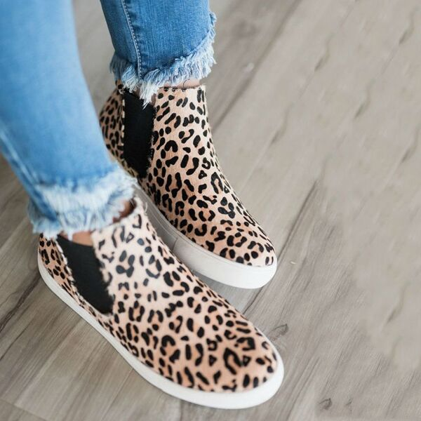 Micasahi Women Leopard Casual Sneakers