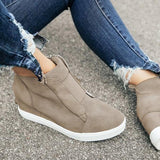 Micasahi Fashion Stylish Daily Wedge Sneakers