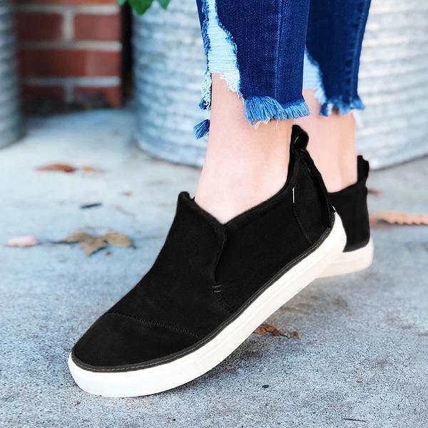 Micasahi Dark Amber Faux Suede Paxton Slip-On Sneakers