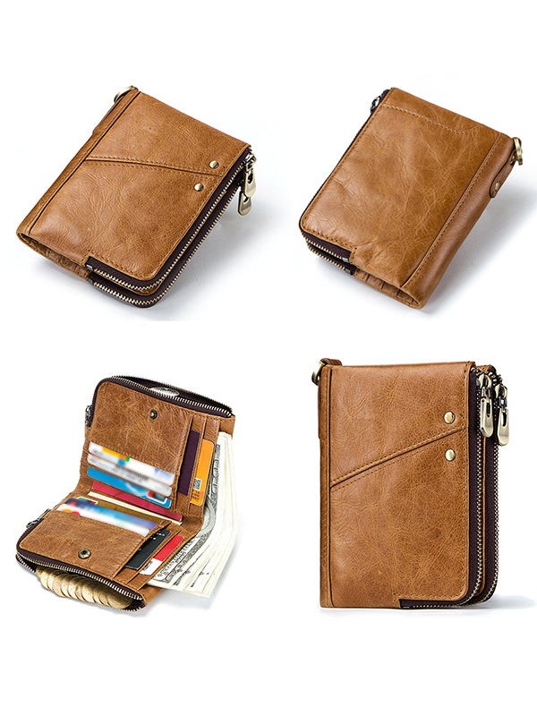 Micasahi Men Leather RFID  Leisure Wallet (Ship In 24 Hours)