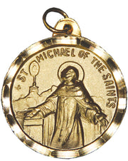 St. Michael of the Saints / Our Lady of Good Remedy Medal with Bezel