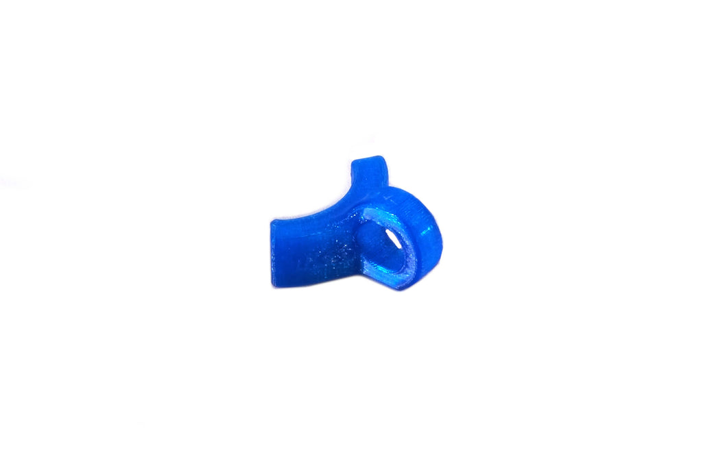 Frame fuel line guide 90 deg - Blue