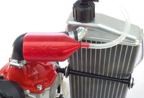 Rotax Max overflow bottle and gearbox breather kit - Translucent Red