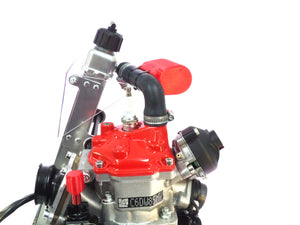 Rotax overflow bottle and gearbox breather kit - Translucent Red