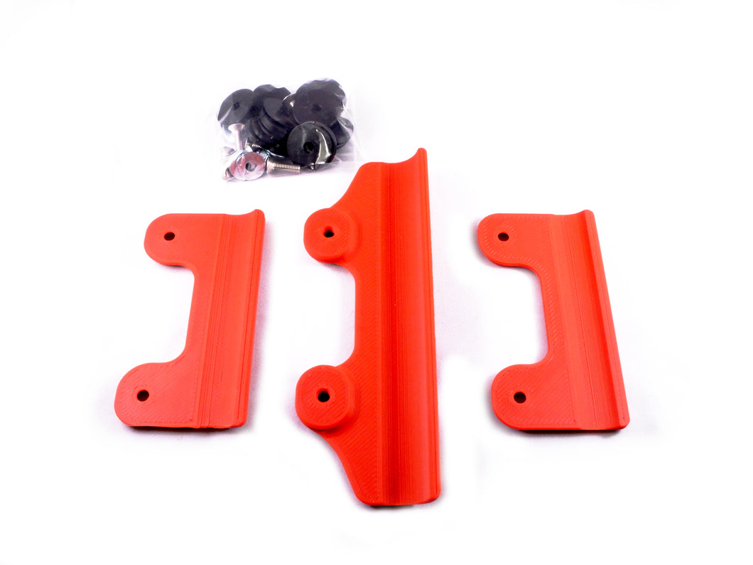 Frame guard set - Red - including all fitting hardware