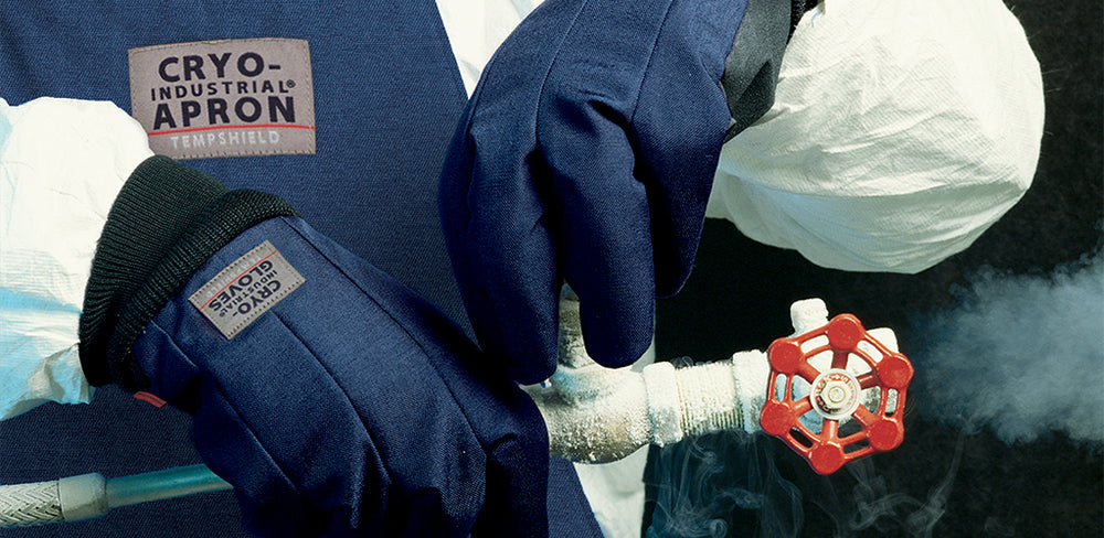 Cryo-Industrial Gloves and Apron