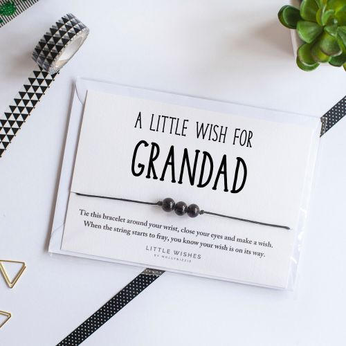 Grandad 'Make a Wish' Bracelet