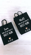 Load image into Gallery viewer, Black Matte 'Best Man' Gift Bag