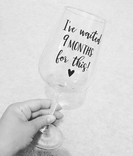 New Mum Wine Glass