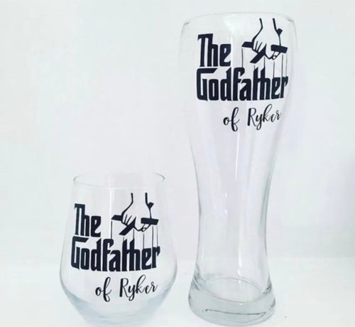 'Godfather' Tall Pint Glass