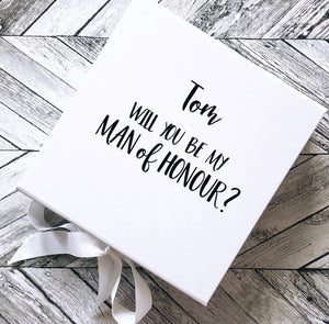 'Man of Honour' Team Bride Proposal Box