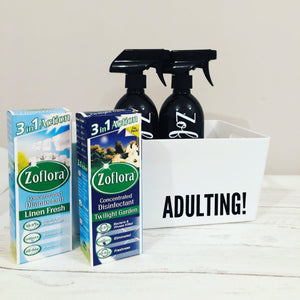 Zoflora Cleaning Set / 2 Bottles & Storage Tub