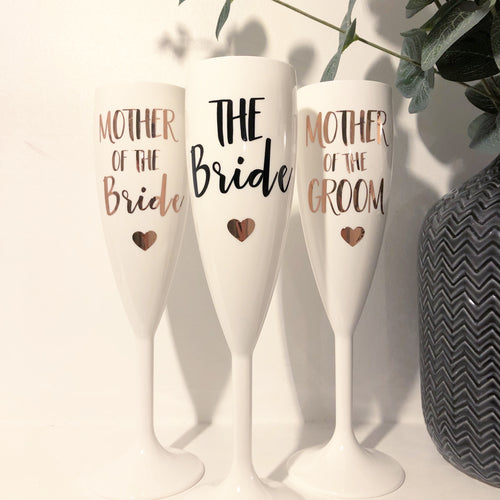 Set of 3 Prosecco flutes