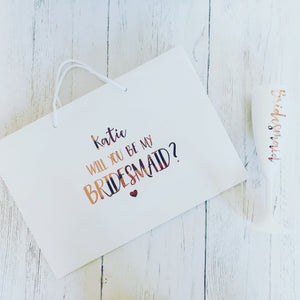 'Will you be my Bridesmaid?' Bag & Flute Gift Set