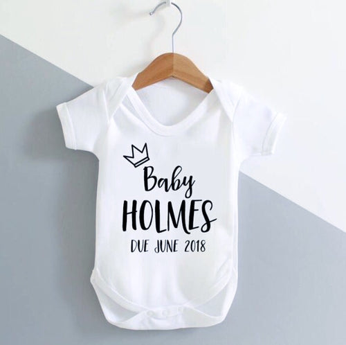 Baby Announcement / New Baby / Baby Grow