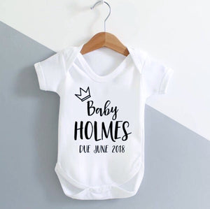 New Baby / Baby Announcement / Baby Grow