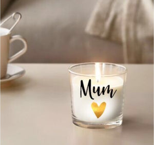 "Mum Personalised Large 9"" Candle"