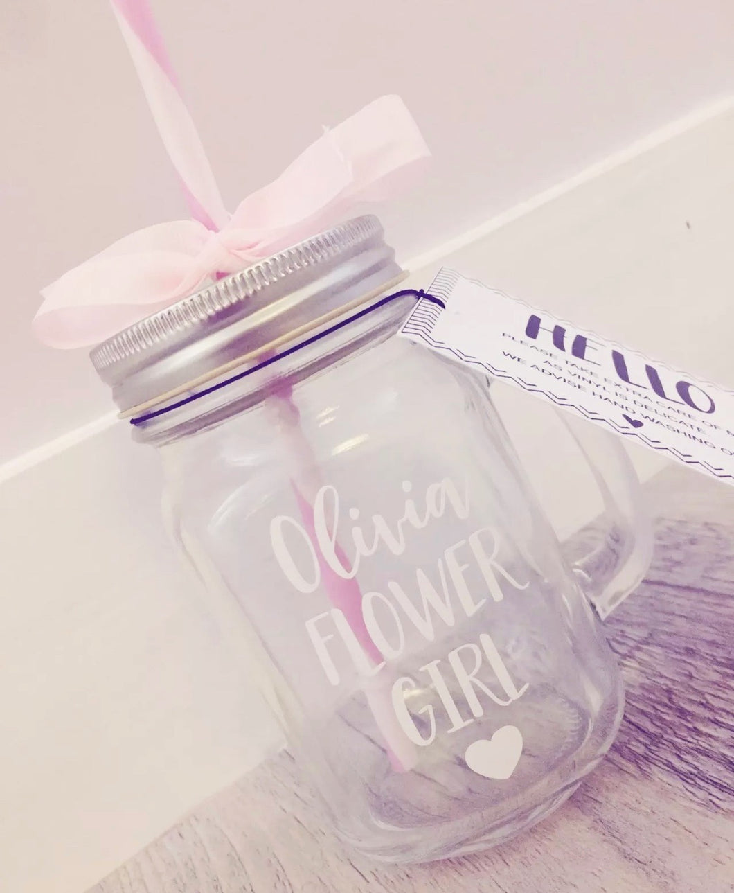 Flower Girl Mason Jar