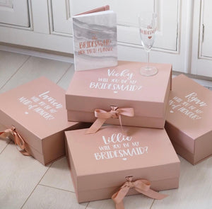 PACK OF 4 - Bridesmaid 'Thank You' Wedding Boxes