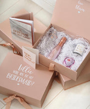 Load image into Gallery viewer, SET OF 2 - Bridesmaid Proposal Box & Prosecco Flute Set