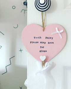 Personalised Tooth Fairy plaque