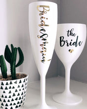 Load image into Gallery viewer, Bridesmaid Prosecco Champagne Flute