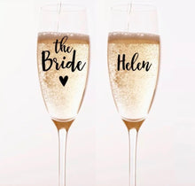 Load image into Gallery viewer, Personalised Prosecco Champagne Flute