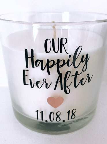 'Our Happily Ever After' Personalised Large 9