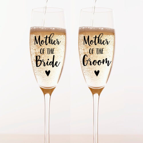 'Mother of the Groom' Personalised Glass