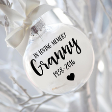 Load image into Gallery viewer, CHRISTMAS BAUBLE 8cm Clear Glass