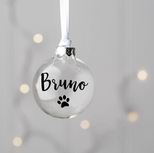 Load image into Gallery viewer, Personalised 8cm Glass Christmas Bauble