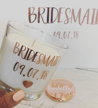 Load image into Gallery viewer, Bridesmaid Rose Gold Compact Mirror