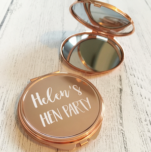 Bridesmaid Rose Gold Compact Mirror