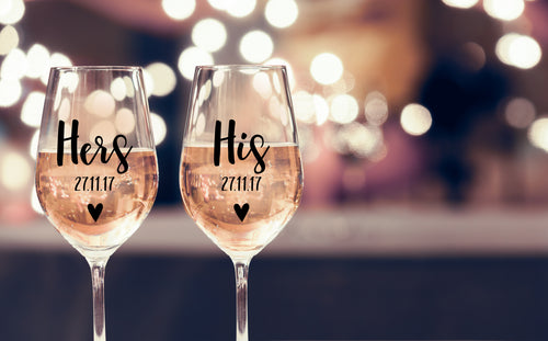 Engagement Personalised Wine Glass