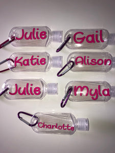 Set of 4 Hand sanitiser bottles